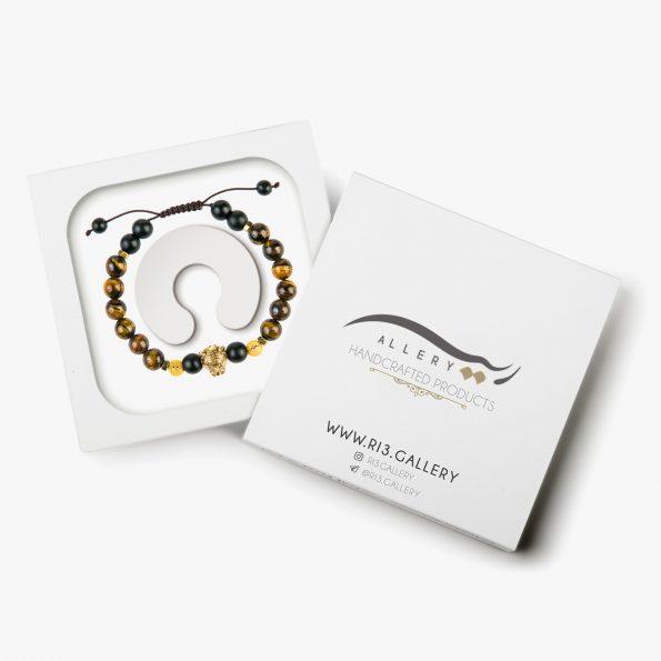 بسته بندی دستبند طلا مردانه بنگال