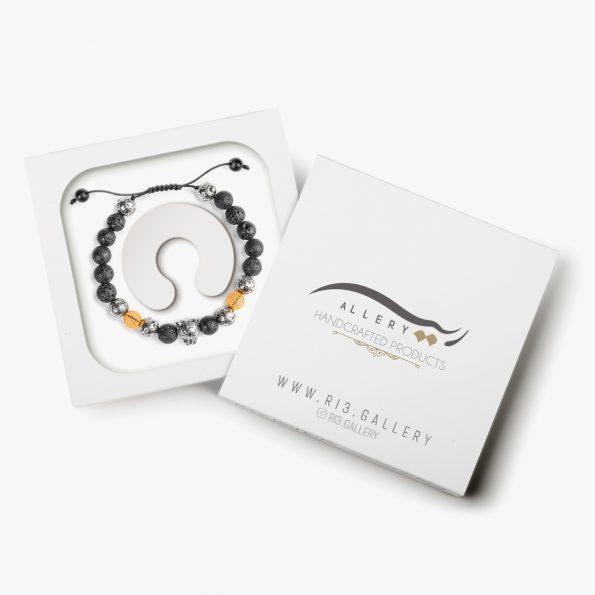 بسته بندی دستبند طلا مردانه دیگو