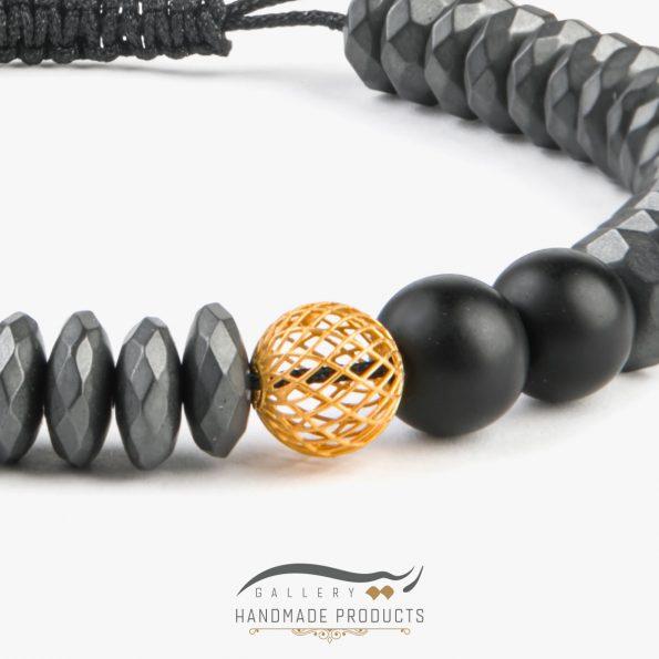 تصویر دستبند طلا مردانه رونوس