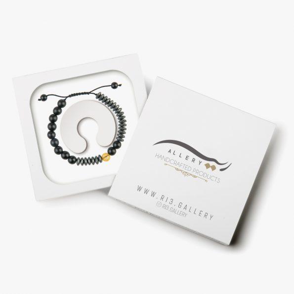 بسته بندی دستبند طلا مردانه رونوس