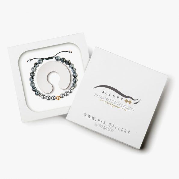 بسته بندی دستبند طلا مردانه شاهین