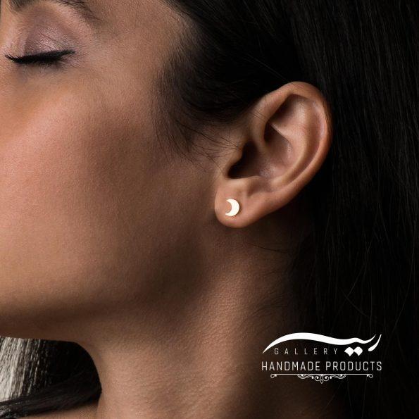 مدل گوشواره طلا زنانه ماه