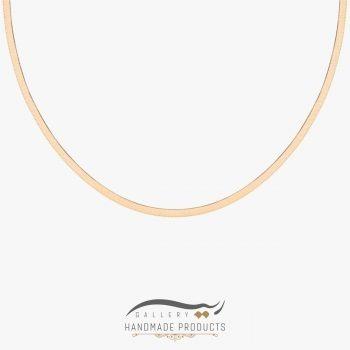 گردنبند طلا زنانه هرینگبون ریسه گالری