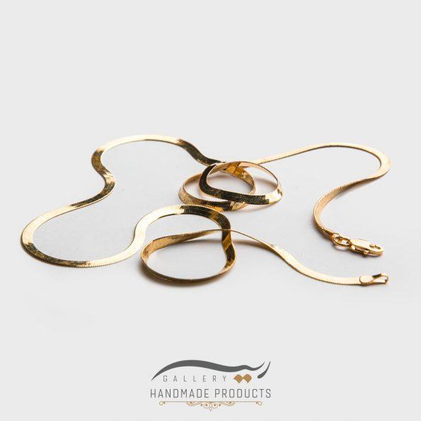 گردنبند طلا زنانه هرینگبون