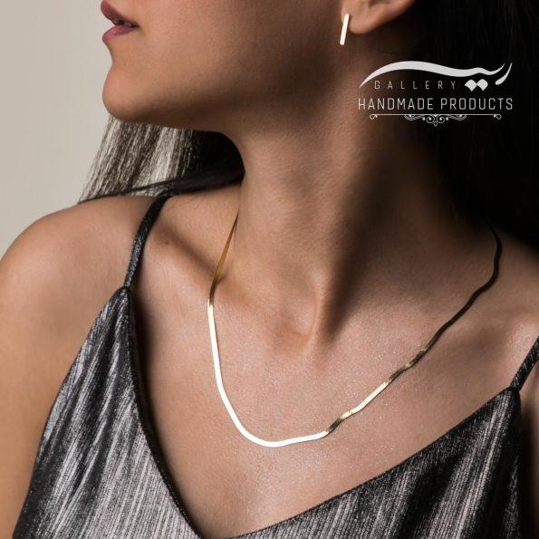 مدل گردنبند طلا زنانه هرینگبون