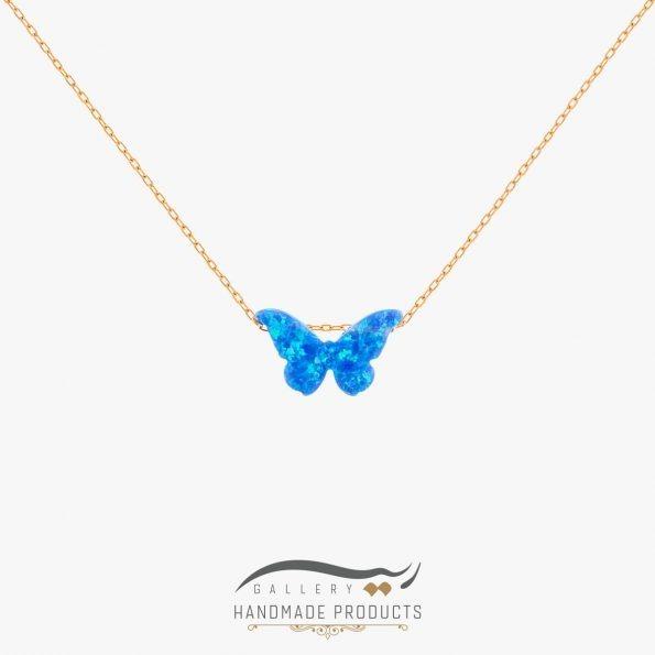 گردنبند طلا زنانه اوپال پروانه