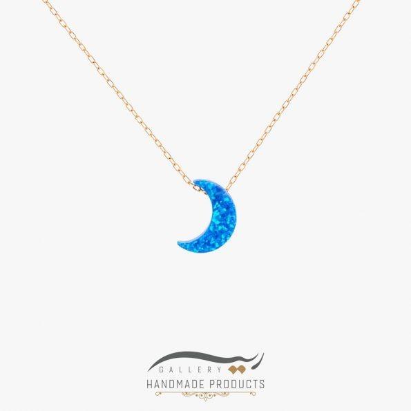 گردنبند طلا زنانه اوپال ماه