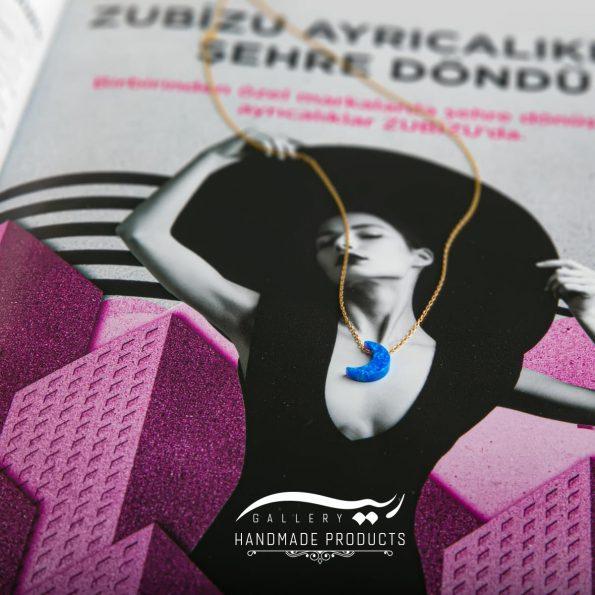 جدیدترین مدل گردنبند طلا زنانه اوپال ماه