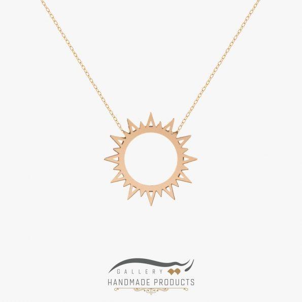 گردنبند طلا زنانه شمس