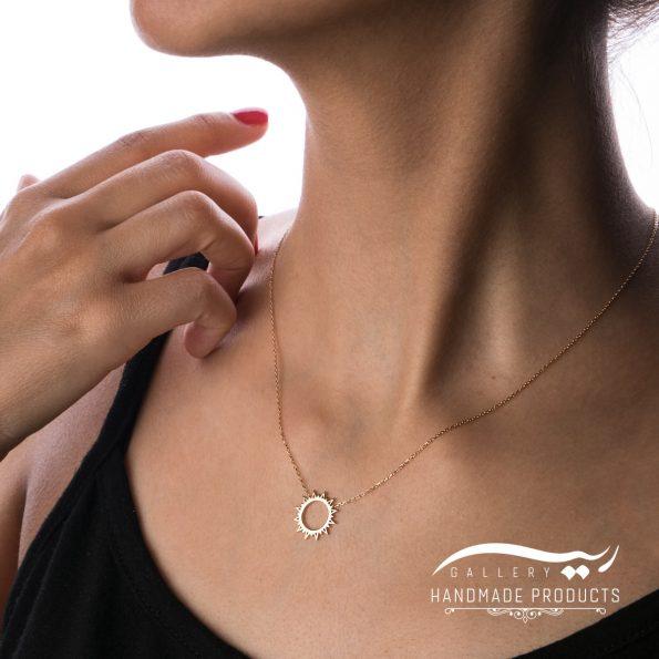 مدل گردنبند طلا زنانه شمس
