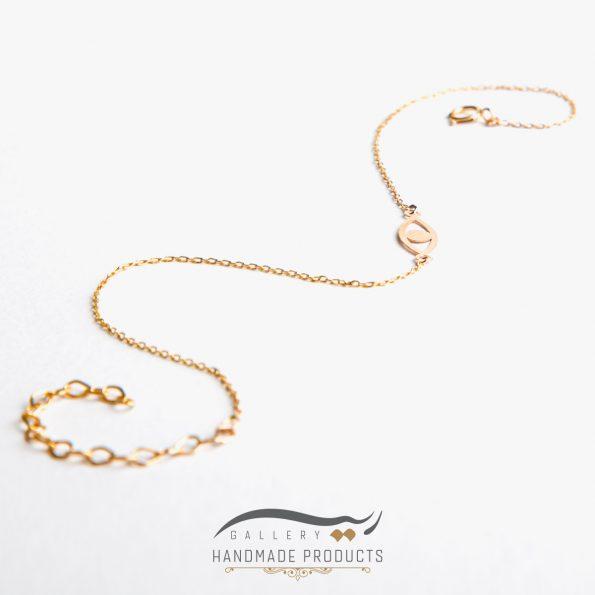تصویر پابند طلا زنانه چشم