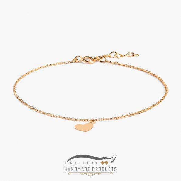 پابند طلا زنانه قلب