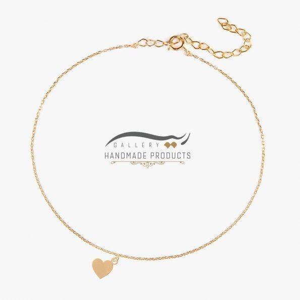 عکس پابند طلا زنانه قلب