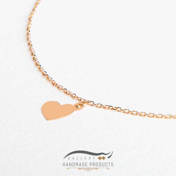 جدیدترین عکس پابند طلا زنانه قلب