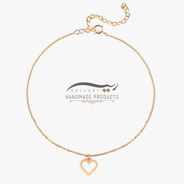 جدیدترین عکس پابند طلا زنانه قلب مینیمال