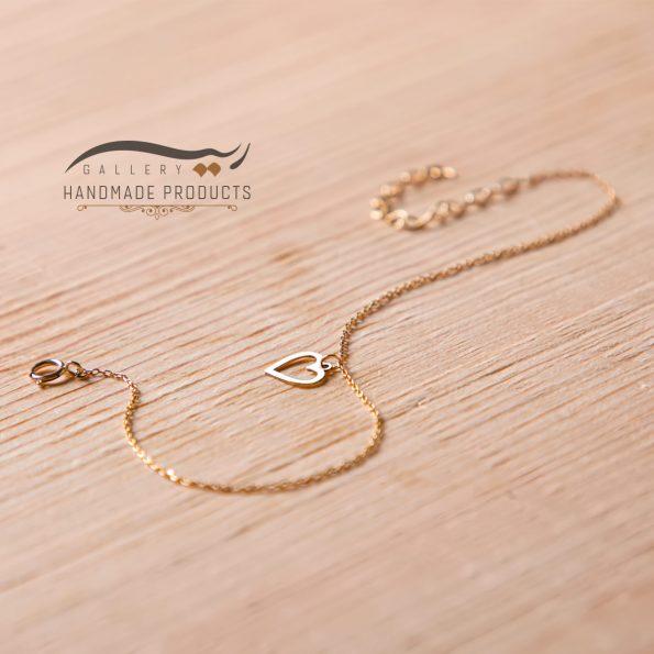 جدیدترین تصویر پابند طلا زنانه قلب مینیمال