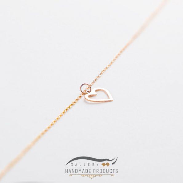 تصویر پابند طلا زنانه قلب مینیمال