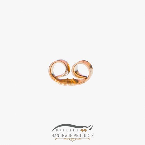 تصویر پشت گوشواره طلا زنانه