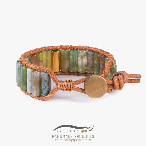 جدیدترین عکس دستبند طلا مردانه چرمی کارائیب