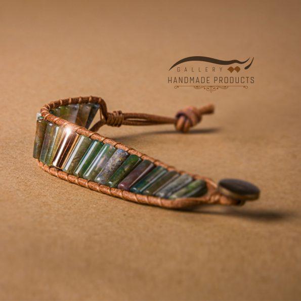 بهترین مدل دستبند طلا مردانه چرمی کارائیب