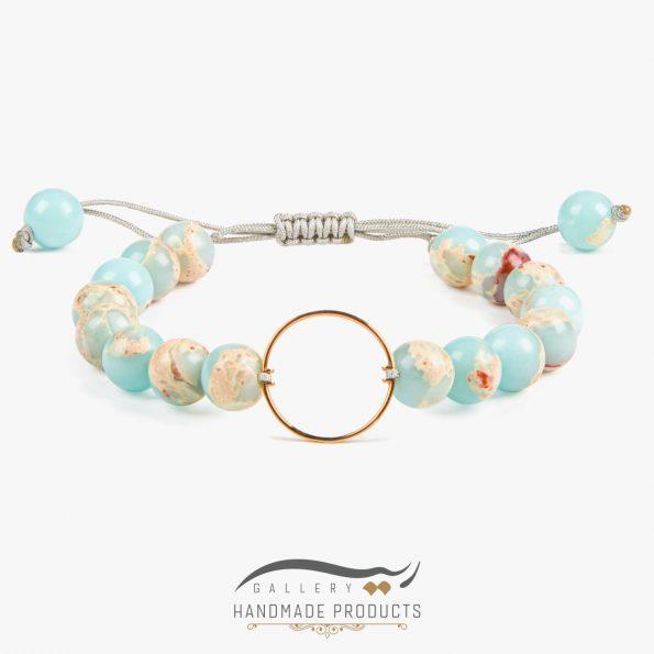 دستبند طلا زنانه بهشت سفید