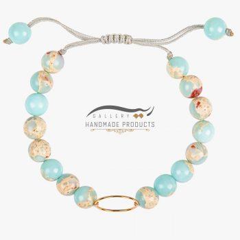 عکس دستبند طلا زنانه بهشت سفید