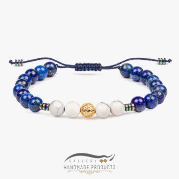 دستبند طلا زنانه آبی عمیق