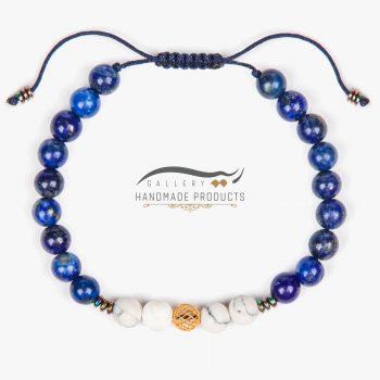 عکس دستبند طلا زنانه آبی عمیق