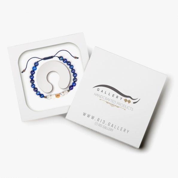 بسته بندی دستبند طلا زنانه آبی عمیق