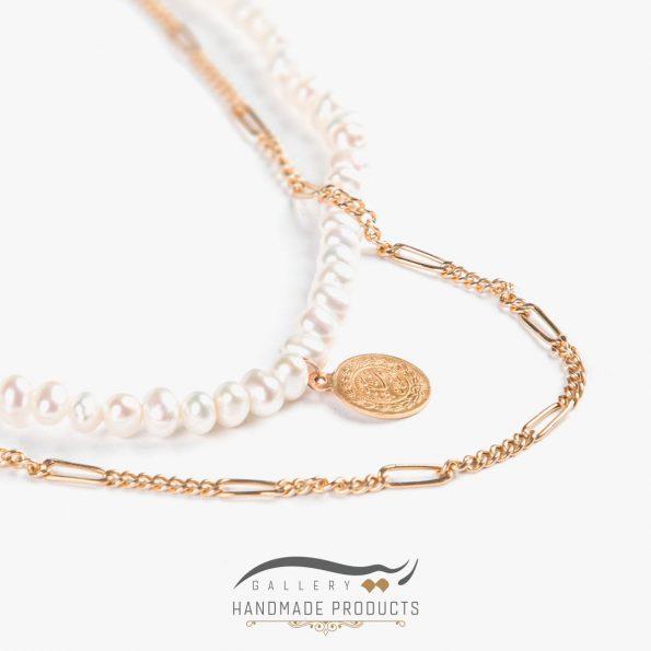 عکس گردنبند طلا زنانه فرح