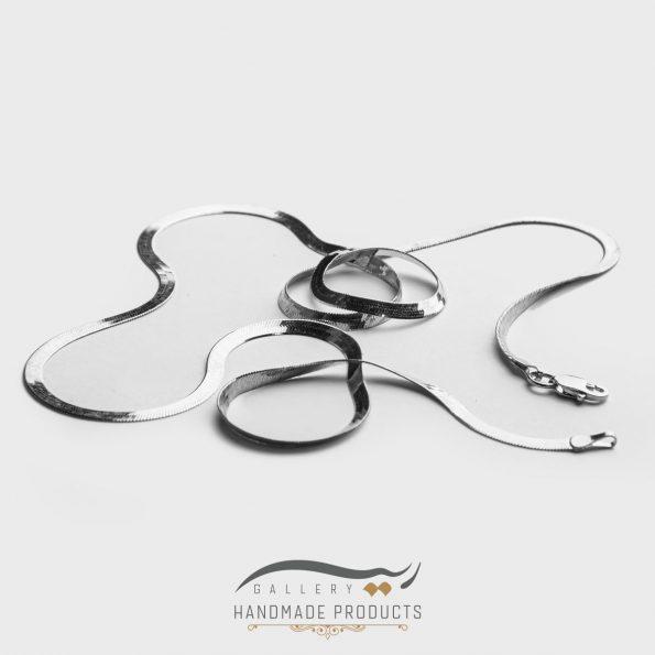 عکس گردنبند نقره زنانه هرینگبون