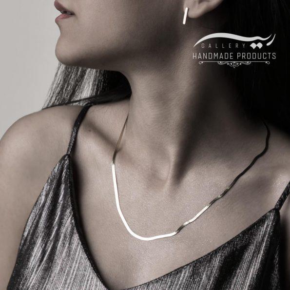 جدیدترین مدل گردنبند نقره زنانه هرینگبون