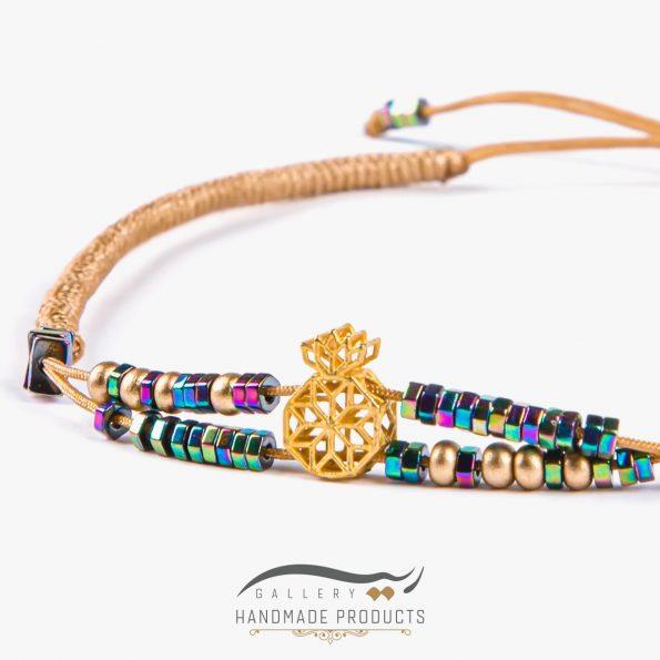 تصویر دستبند طلا زنانه نارین