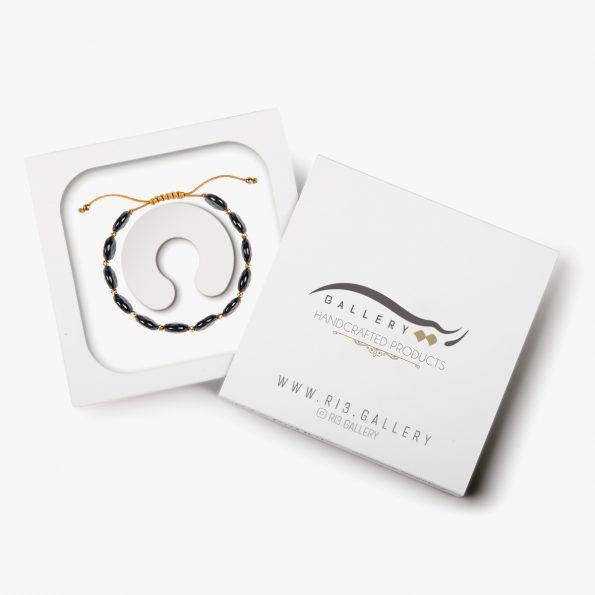 بسته بندی دستبند طلا زنانه الهه شب