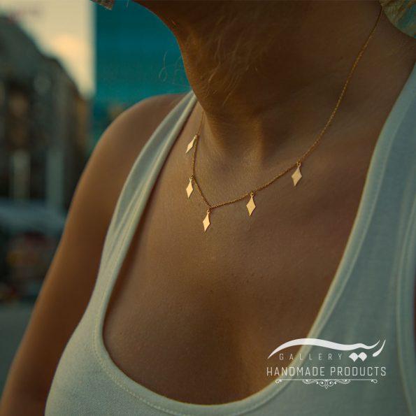 مدل گردنبند طلا زنانه خشت