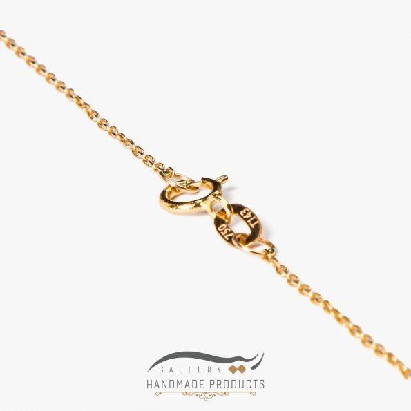 عکس زنجیر گردنبند طلا زنانه خشت