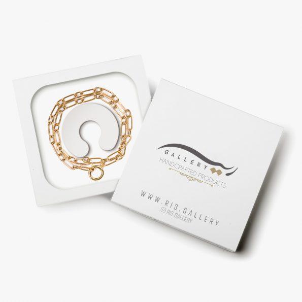 بسته بندی گردنبند طلا زنانه هرمیا