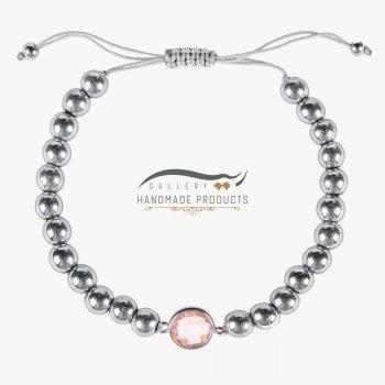 عکس دستبند نقره زنانه رزادو