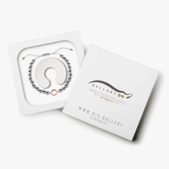 بسته بندی دستبند نقره زنانه رزادو
