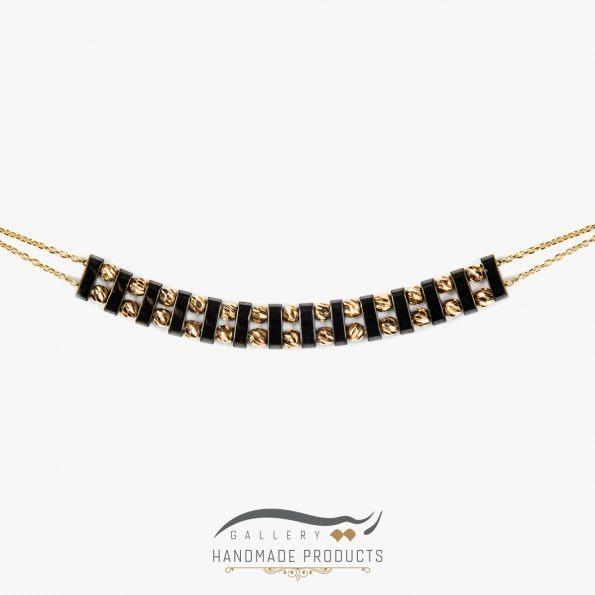 تصویر گردنبند طلا زنانه آسنات