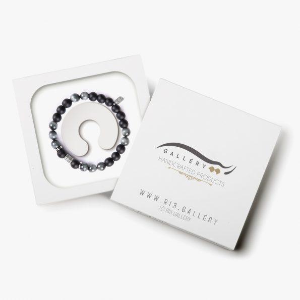 بسته بندی جدیدترین عکس دستبند نقره مردانه چشم عقاب