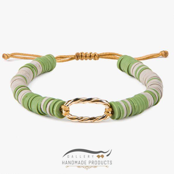 دستبند طلا زنانه گیس بافت