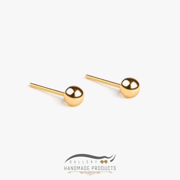 گوشواره طلا زنانه توپی