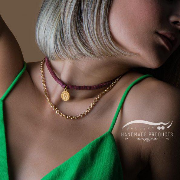 مدل گردنبند طلا زنانه ویولت